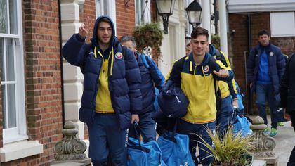 Naționala de tineret a ajuns în Marea Britanie. Meciul Anglia U 21 - România U 21, sâmbătă, de la 19.15