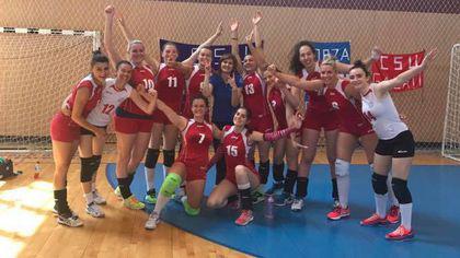 CSU Oradea a promovat în Divizia A1 de volei feminin