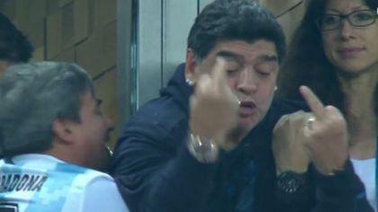 Explicația lui Maradona pentru reacțiile sale din timpul meciului Argentina - Nigeria, de la Campionatul Mondial de fotbal Rusia 2018