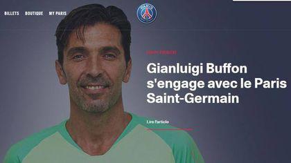 Gianluigi Buffon, oficial la PSG. Portarul italian, prezentat pe site-ul campioanei Franței