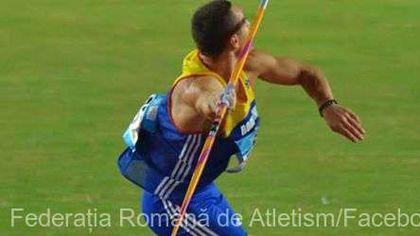 Alexandru Novac, record național la aruncarea suliței. Sportivul este antrenat de Mihaela Melinte