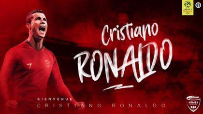 """Francezii de la Nimes au făcut gluma zilei: """"Suntem fericiți să anunțăm împrumutul lui Ronaldo"""""""