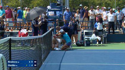 US Open, primul tur. Julia Glushko, accidentare horror sau truc în meciul cu Monica Niculescu?