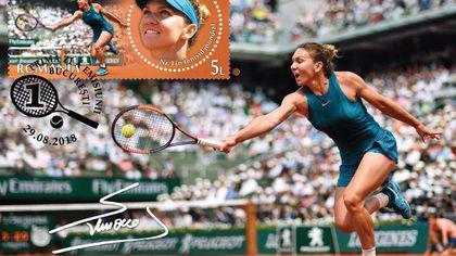 Timbru dedicat Simonei Halep pentru victoria de la Roland Garros