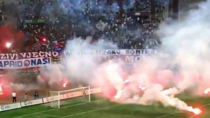 FCSB i-a băgat în vrie. Scandal la ultimul meci al celor de la Hajduk Split | VIDEO