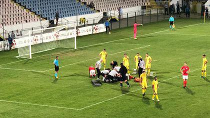UPDATE / Un fotbalist englez a ajuns la spital, în stare gravă, după un meci disputat la Buzău, în UEFA Region's Cup. Britanicul, transportat de urgență acasă. Românii au ratat calificarea la turneul final
