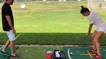 Simona Halep s-a apucat de golf. A jucat alături de altă vedetă | FOTO&VIDEO