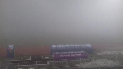 Ceață la Pitești, FCSB - Viitorul se va juca luni, de la ora 20:00!
