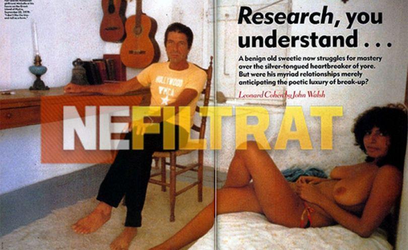 BOMBĂ! Leonard Cohen s-a iubit cu o româncă focoasă, singura femeie din viața lui cu un bust imens! | FOTO