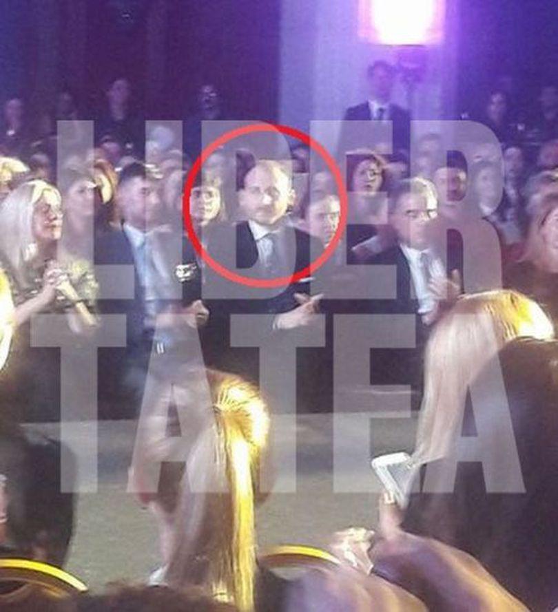 FOTO EXCLUSIV/ Iubitul Andreei Marin, în primul rând la gala prezentată de divă. A încurajat-o discret