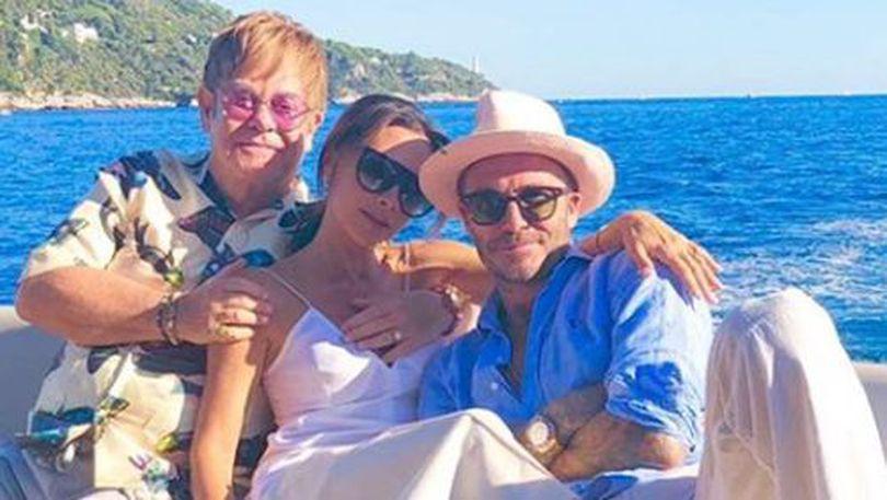 VIDEO | David și Victoria Beckham, vacanță în Franța alături de Elton John