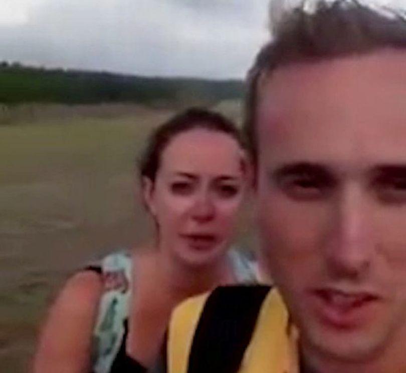 """Doi tineri au trecut prin coșmarul vieții în timpul lunii de miere: """"Dacă se întâmpla cu 30 de secunde mai devreme, eram morți"""""""