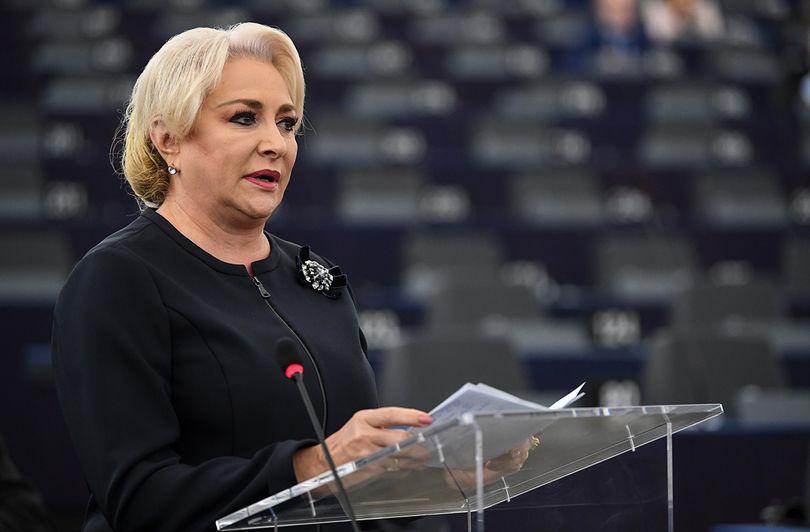 Viorica Dăncilă prezintă în Parlamentul European priorităţile preşedinţiei României la Consiliul UE. Ce i-a transmis lui Antonio Tajani