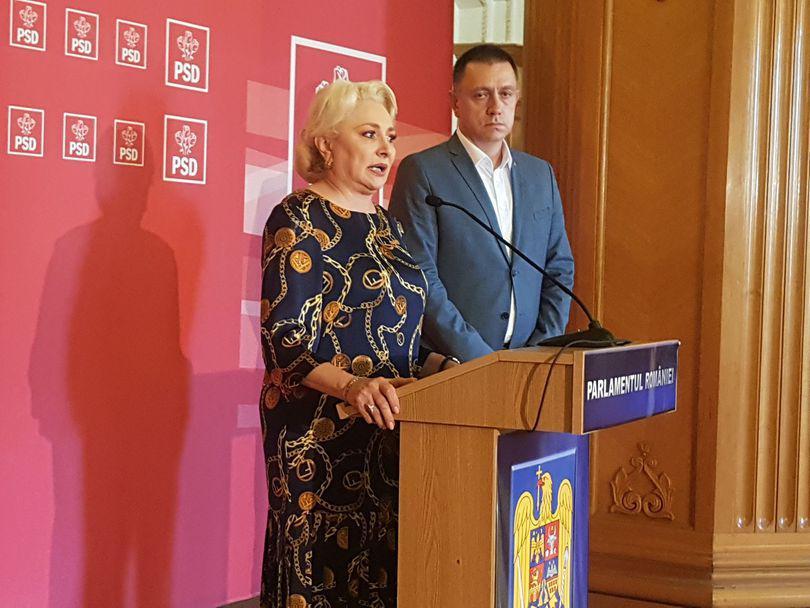 """Dăncilă îi ameninţă pe parlamentarii PSD care votează moţiunea cu excluderea din partid: """"Cei care i-au votat, nu i-au susţinut pentru a se poziţiona împotriva propriului Guvern"""""""