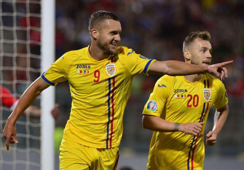 Malta – România 0-4, în preliminariile Euro 2020. Am trecut pe locul doi. Dublă Pușcaș, gol și eliminare Chipciu, Man închide tabela